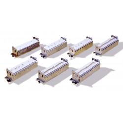 Bloc de perforation Anneaux Métalliques Pas 3:1 - 4x4mm Trous Carrés pour MEGASTAR