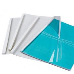 Couvertures préencollées Luxe Dos Brillant - BLANC 12-15-18mm