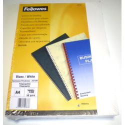 Couvertures PVC A4 Futura 28/100 - BLANC
