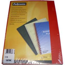 Couvertures PVC A4 Futura 28/100 - ROUGE