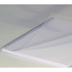 Couvertures PVC Pré-perforée Transparent - A4 20/100
