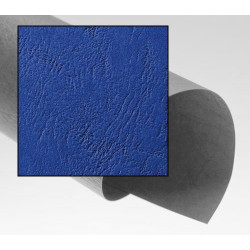 Dos de couvertures A4 Grain Cuir 250g - BLEU ROYAL