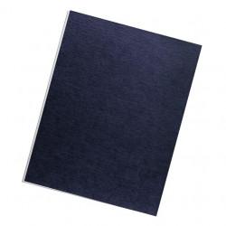 Dos de couvertures A4 Linen 250g - BLEU UK
