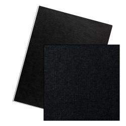 Dos de couvertures A4 Linen 250g - NOIR
