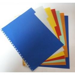 Intercalaires couleurs 7 positions - perfo. 21 trous