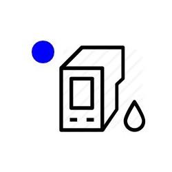 Pitney Bowes Connect + Standard cartouche d encre bleu