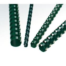 Anneaux plastiques 21 Boucles 14 mm Vert