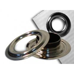 Oeillets & Contre-oeillets 8mm, en acier nickelé