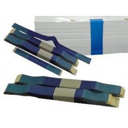 Rubans bleu transparent 43cm Conditionnement à l' unité.