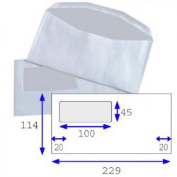 Enveloppes mécanisables inversées 114x229 - fenêtre 45x100mm 109BD/49BB