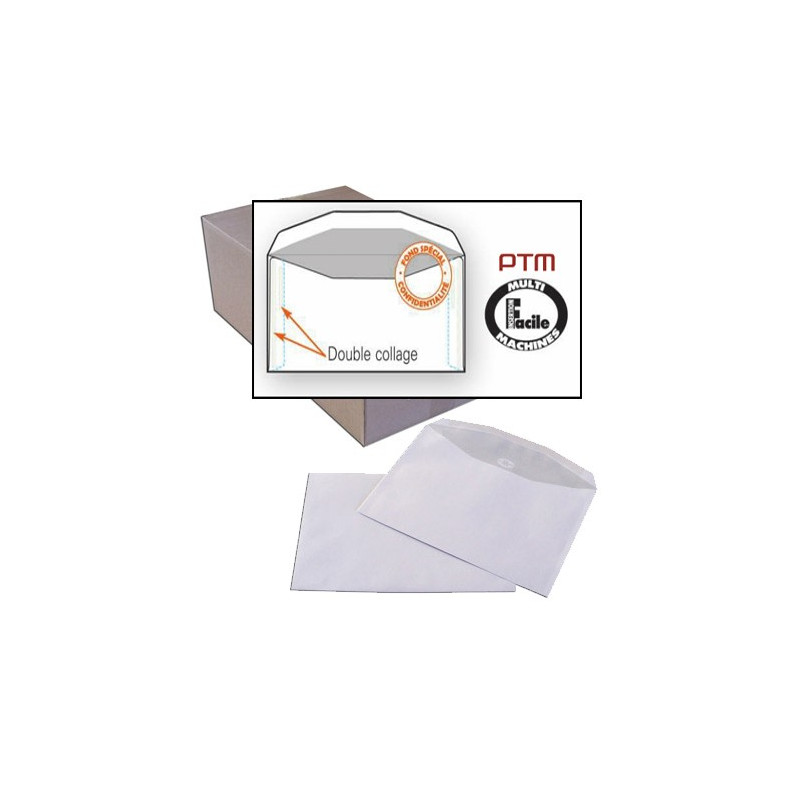 Enveloppes m canisables 162x229 sans fen tre graphimailer for Enveloppe sans fenetre