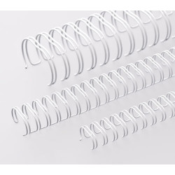 Anneaux métalliques 23 boucles 11.0 mm - BLANC