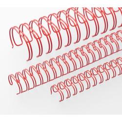Anneaux métalliques 23 boucles 12.7 mm - ROUGE