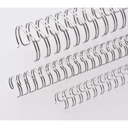 Anneaux métalliques 23 boucles 25.4 mm - ARGENT BRILLANT