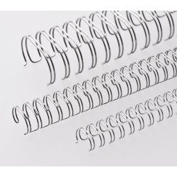 Anneaux métalliques 23 boucles 28.5 mm - ARGENT BRILLANT