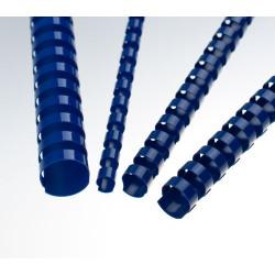 Anneaux plastiques 21 boucles 6 mm Bleu