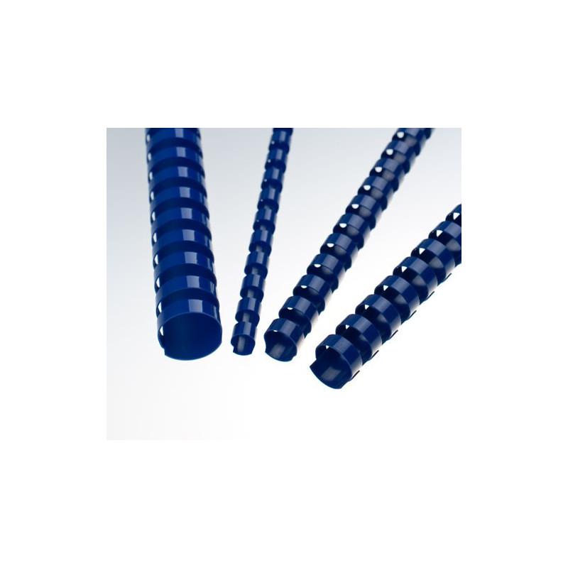 Anneaux plastiques 21 Boucles 12,5 mm Bleu