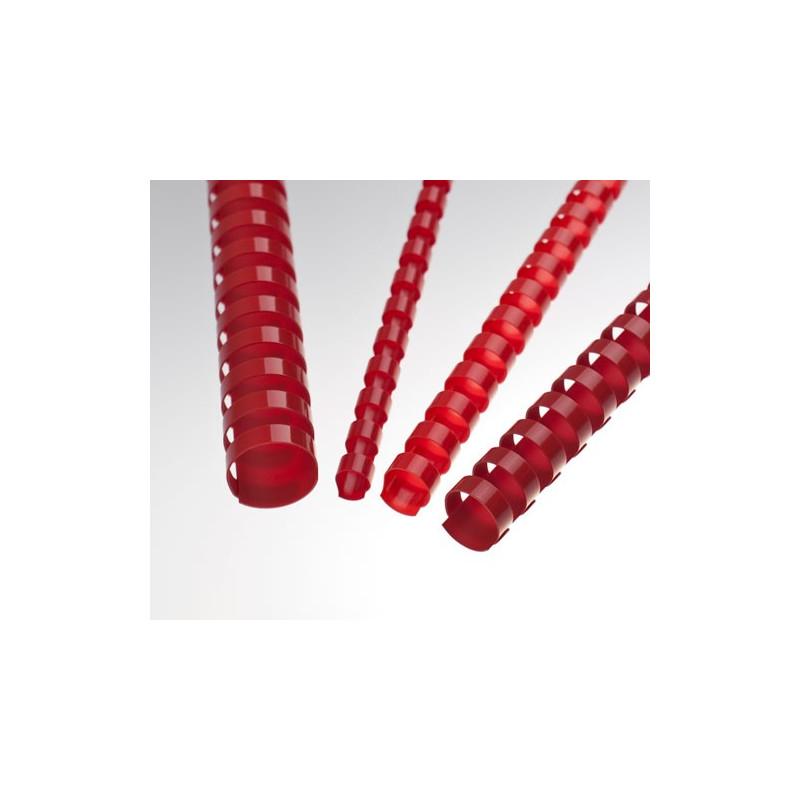 Anneaux plastiques 21 Boucles 12,5 mm Rouge