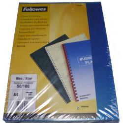 Couvertures PP A4 Fantaisie 50/100 - BLEU (x50)