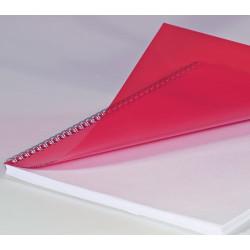 Couvertures PVC A4 20/100 Prestige - ROUGE