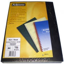 Couvertures PVC A4 Futura 28/100 - NOIR