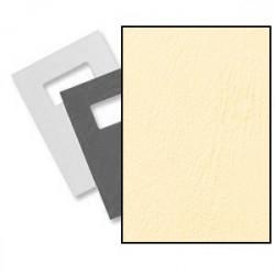 Dos et couvertures à fenêtre A4 Grain Cuir - IVOIRE