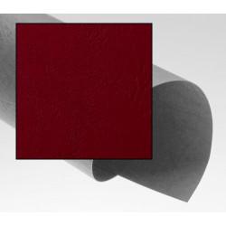Dos de couvertures A4 Grain Cuir 250g - ROUGE FONCE