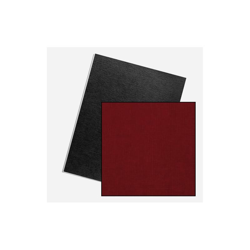 Dos de couvertures A4 Linen 250g - ROUGE UK