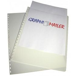 Dos et couvertures personnalisables - Pré-perforés - BLANC