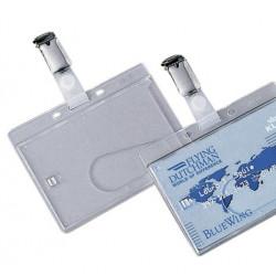 Badge de protection pour carte avec clip métallique