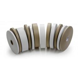 Feuillard - lien de cerclage par bobine papier blanc 30x130  x1  bobines.   Bobine de papier blanc pour cercleuse GETRANDING