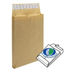 Pochettes à soufflets 229x324x30 - pur kraft Adour, 120gr