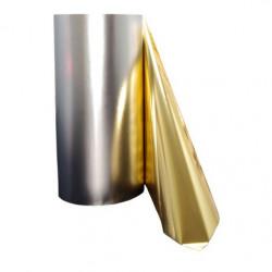 Lot de 2 rouleaux de film Luxefoil argenté métallisé (320*120mm)