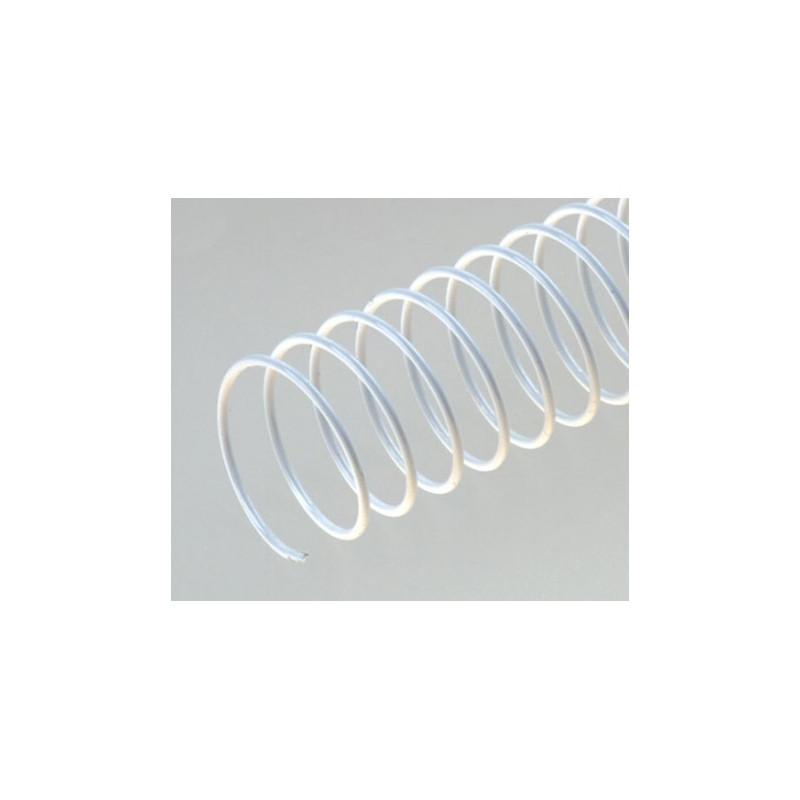 Spirales métalliques hélicoïdales Pas 4:1 / Ø 10mm - BLANC