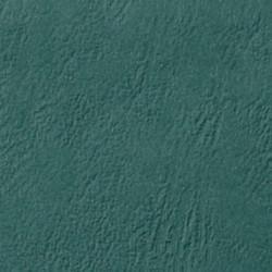 Couverture d'emboitage VERT D'EAU - Grain Cuir - Rainée, à la Française