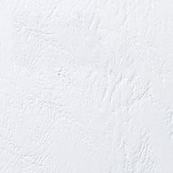 Couverture d'emboitage BLANC Grain Cuir Rainée, à la Française