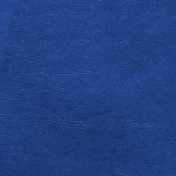 Couverture d'emboitage BLEU ROYALE - Grain Cuir - Rainée, à la Française