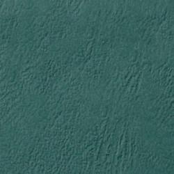 Couverture d'emboitage VERT CHASSE Grain Cuir rainée, à la Française