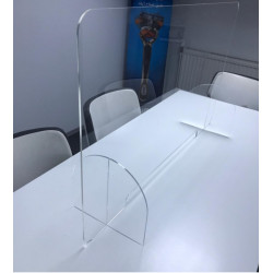 Ecran Hygiene MEDIC-PLUS posé sur deux pieds Transparent  COVID-19