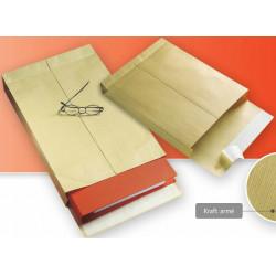 Pochettes à soufflets 280x365x70 - Kraft armé brun, 125gr