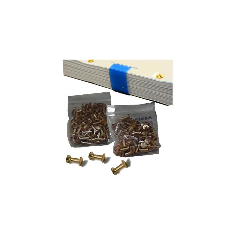 Allonges laiton 20mm (reliure jusqu'à 200 pages)  Conditionnement par 50