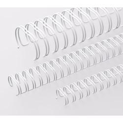 Anneaux métalliques 23 boucles 12.7 mm - BLANC