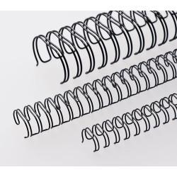 Anneaux métalliques 23 boucles 12.7 mm - NOIR