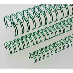 Anneaux métalliques 23 boucles 14.3 mm - VERT