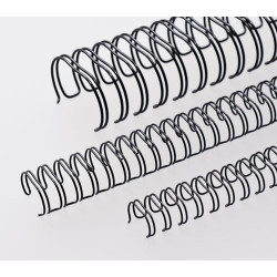 Anneaux métalliques 23 boucles 38.0 mm - NOIR