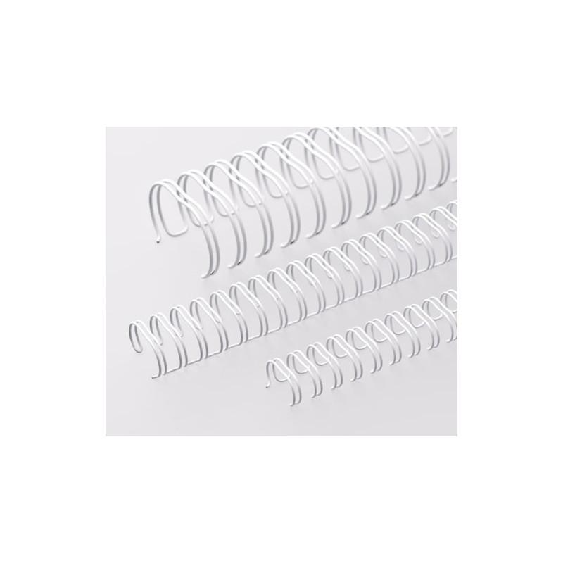 Anneaux métalliques 23 boucles 6.9 mm - BLANC