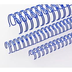 Anneaux métalliques 23 boucles 9.5 mm - BLEU