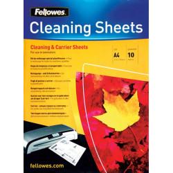 Papier de nettoyage et de protection plastifieuses